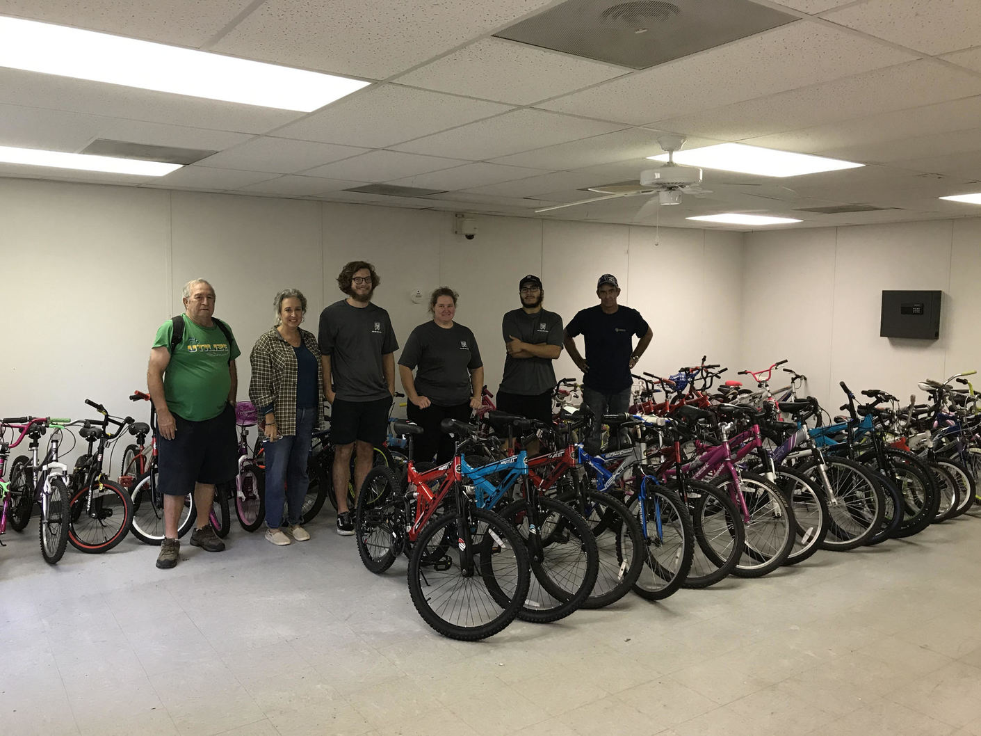 Our Pedal It Forward Team joined with Two Men and A Truck, Pathways to Progress and the Decatur City to bring free bikes to Decatur for the upcoming Glow Ride.
