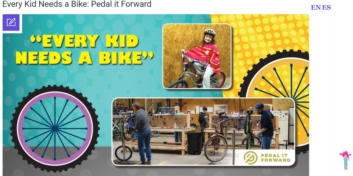 Every Kid Needs a Bike: Pedal it Forward, Official Kids Mag